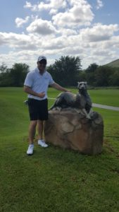 Kobus Tosen at leopard creek golf course