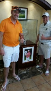 Kobus Tosen at the million dollar golf challange