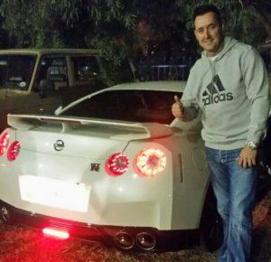Kobus Tosen with Nissan GTR
